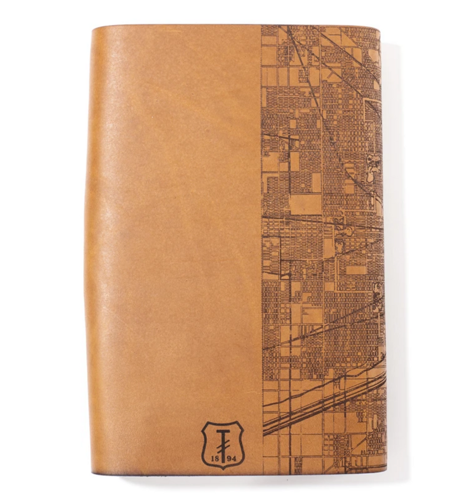 Handmade Leather Map Journal