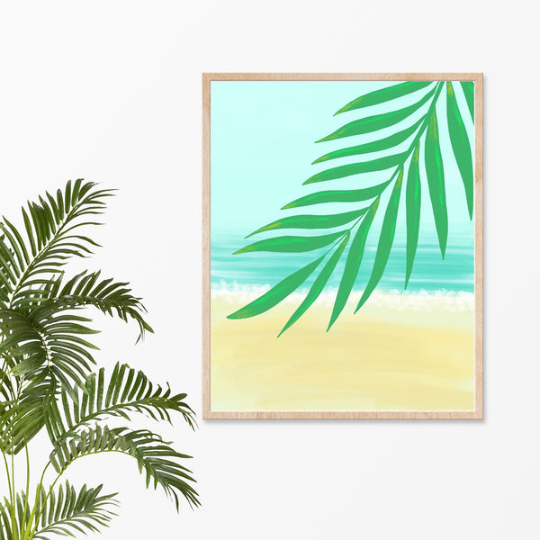 "Palm Leaf Art Print, 8"" x 10"""