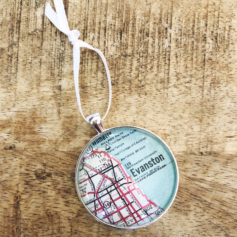 Evanston Map Ornament