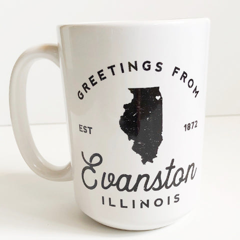 15 oz. Greetings From Evanston Mug