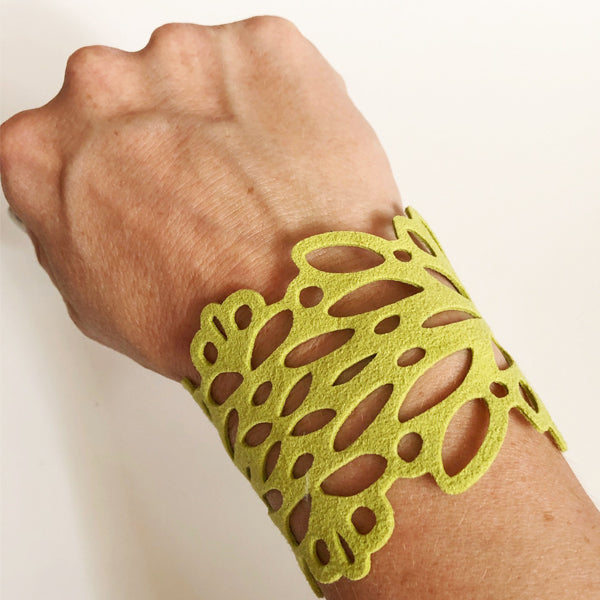 Lime Ultrasuede Reflection Bracelet