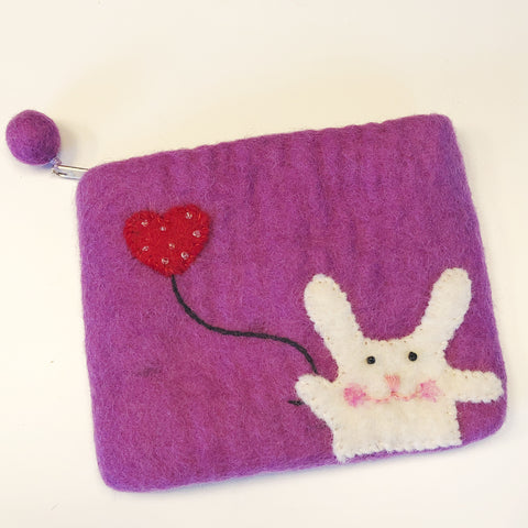 Cute Felt Zipper Pouch