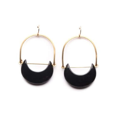 XL Onyx Eclipse Earrings