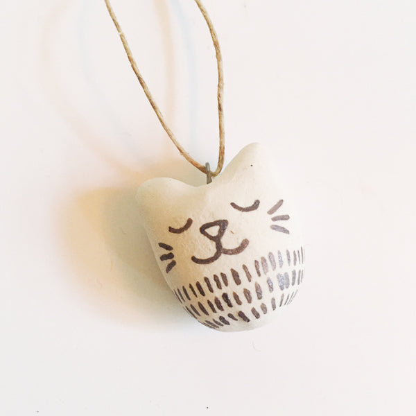 ***SALE*** Tiny Cat Clay Ornament