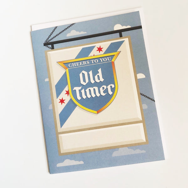 Beer Sign Fill-in Birthday Card