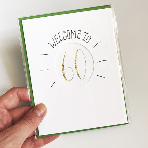 Welcome to 60 Birthday Card