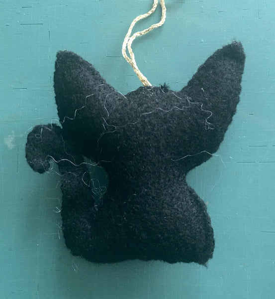 *PRE-SALE* Black Cat Face Mask 2020 Ornament