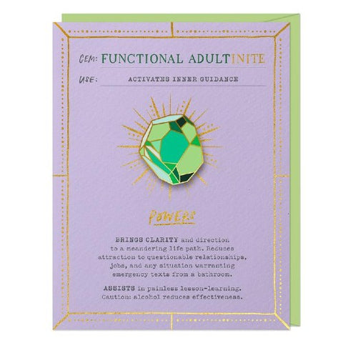 Functional Adultinite Card & Magnetic Enamel Pin