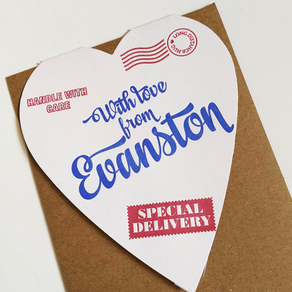 With Love From Evanston Card