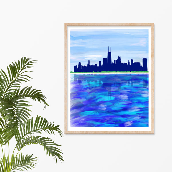 "Chicago Skyline Art Print, 8"" x 10"""