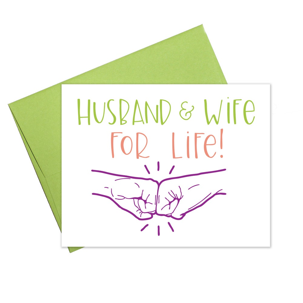 Husband & Wife For Life Card