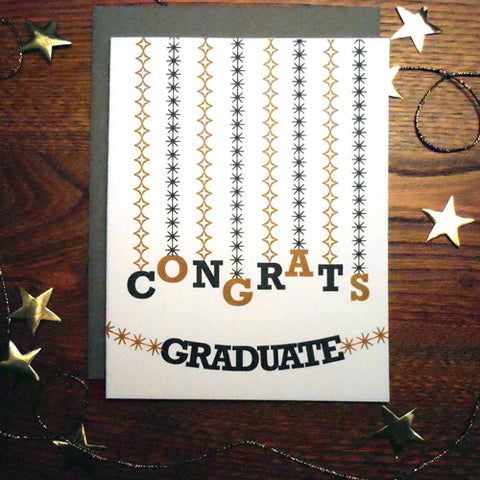 Graduation Streamers Card