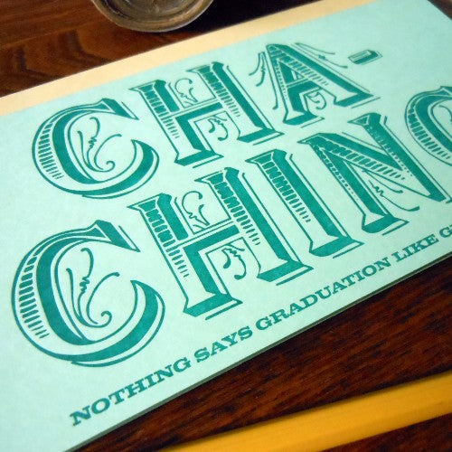 Cha-ching Money Holder Card