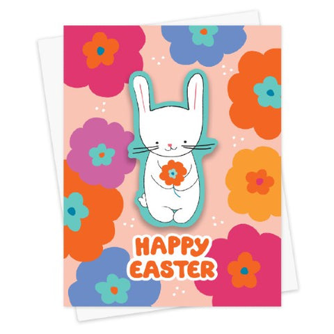 Easter Bunny Sticker Card