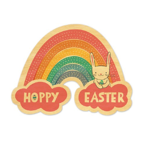 Wood Grain Hoppy Easter Card