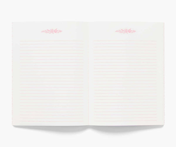 Floral Notebook - 130 Lined Pages