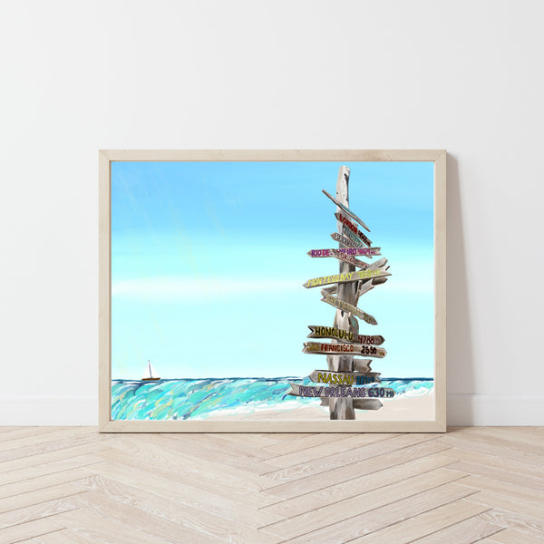 "Key West Art Print, 8"" x 10"""