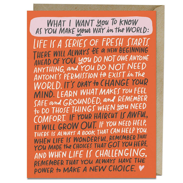 Make Your Way In The World Graduation/New Beginnings Card