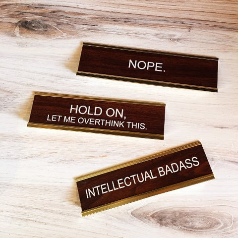 Funny Office Desk Nameplates