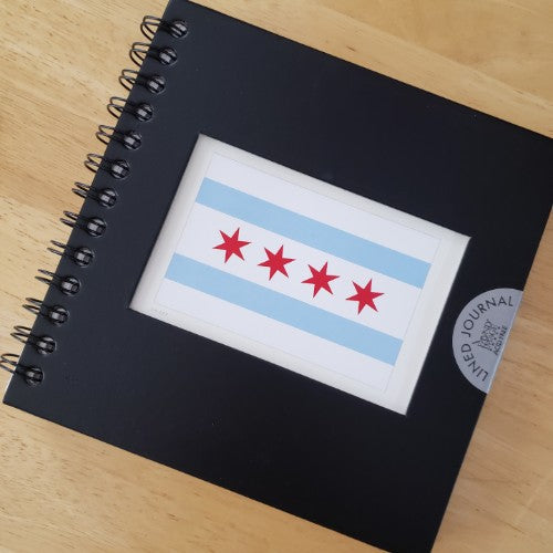Chicago Flag Lined Journal