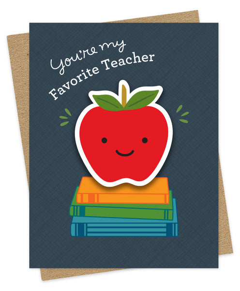 Favorite Teacher Sticker Card