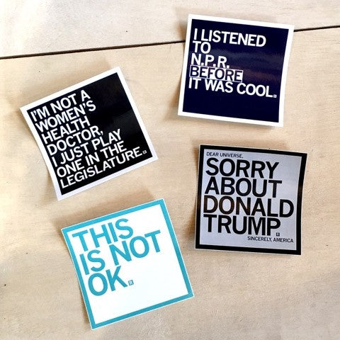 Political Vinyl Stickers