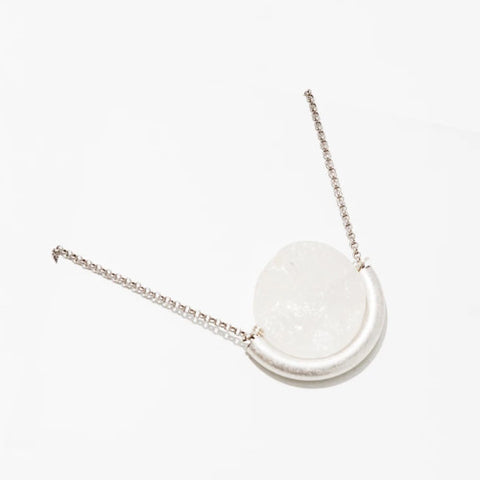 Sun and Moon Necklace - Quartz/Silver