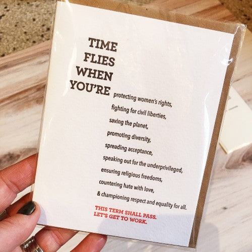 Quirky Everyday Letterpress Greeting Cards