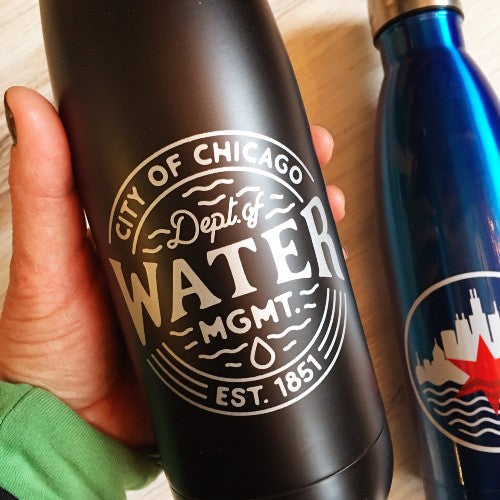 Dept of Water Management Stainless Steel Water Bottle