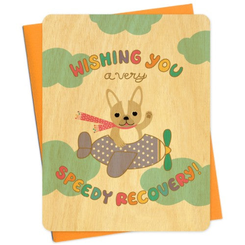 Wood Grain Get Well Soon Cards