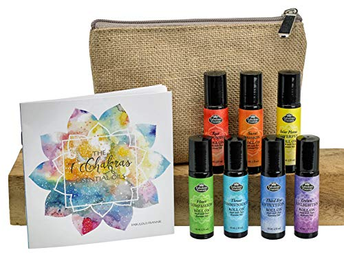 Complete Chakra  Roll On Set with Travel BagPure Essentials Oils