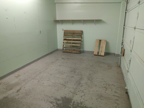 Our empty warehouse (for now!)