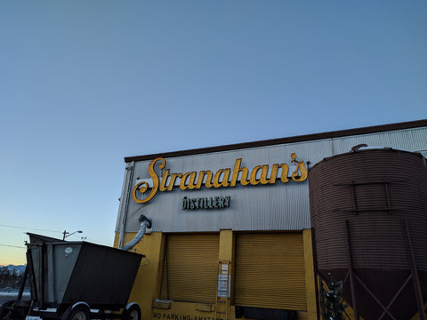 stranahan's colorado whiskey distillery sign