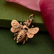 Large Honeybee Charm - Poppies Beads n' More