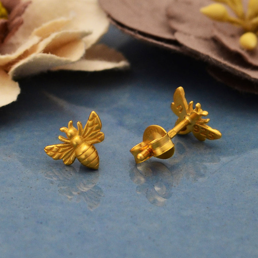 Tiny Bee Post Earrings,