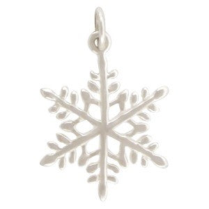 Large Sterling Silver Snowflake Charm