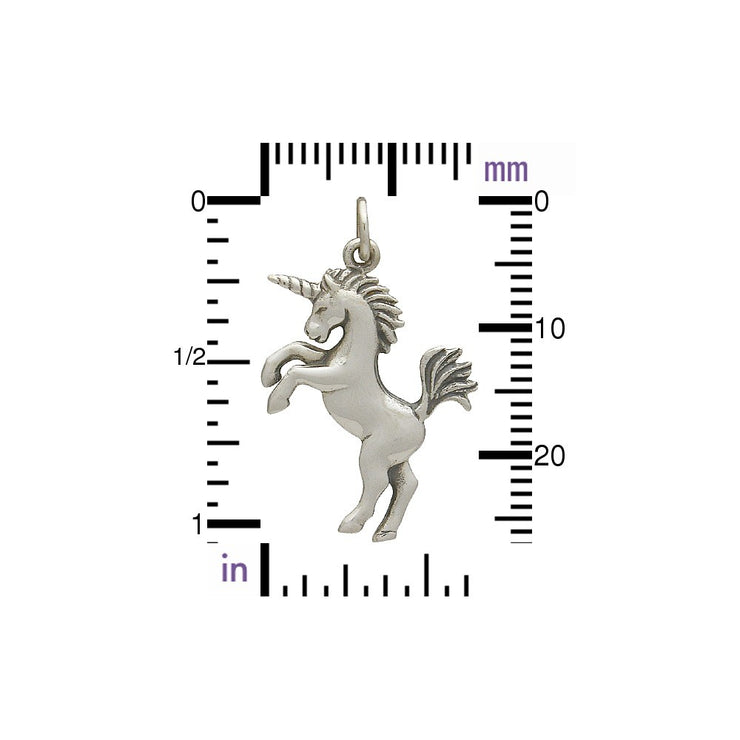 3D Realistic Unicorn Charm - Poppies Beads n' More