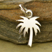 Palm Tree Charm - Flat - Poppies Beads n' More