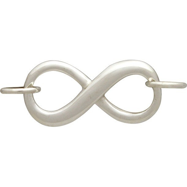 Sterling Silver Dimensional Infinity Link - Poppies Beads n' More