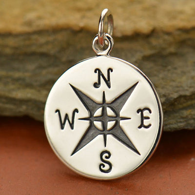 Large Compass Charm