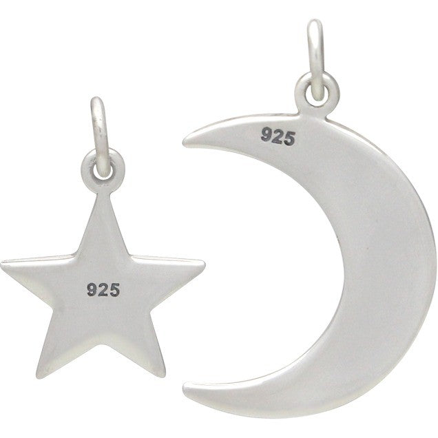 Sterling Silver Love You to the Moon and Back Star Set