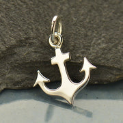 Flat Plate Anchor Charm - Poppies Beads n' More