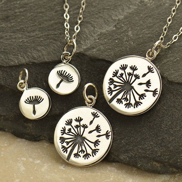 Big and Small Dandelion Charm Set - Poppies Beads n' More