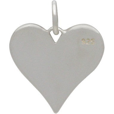 Sterling Silver Love You More Heart Charm - Poppies Beads n' More