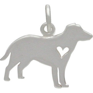 Sterling Silver- Labrador Retriever Dog Charm