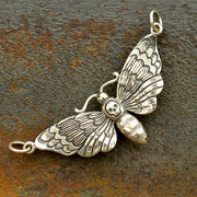 Deaths Head Moth Charm - Poppies Beads n' More
