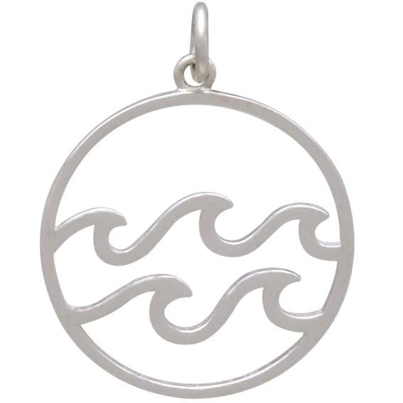 Sterling Silver Openwork Water Element Charm