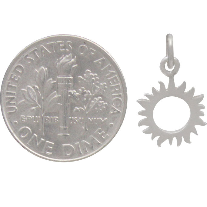 Sterling Silver Small Eclipse Charm - Poppies Beads n' More