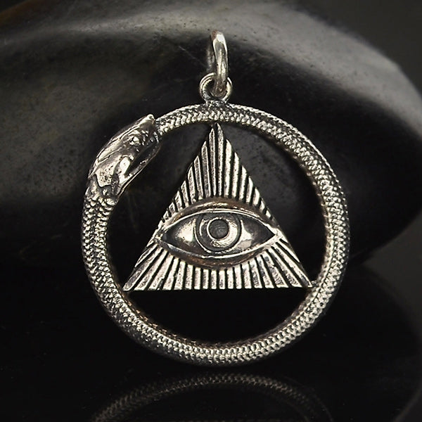 All Seeing Eye and Ouroboros Pendant