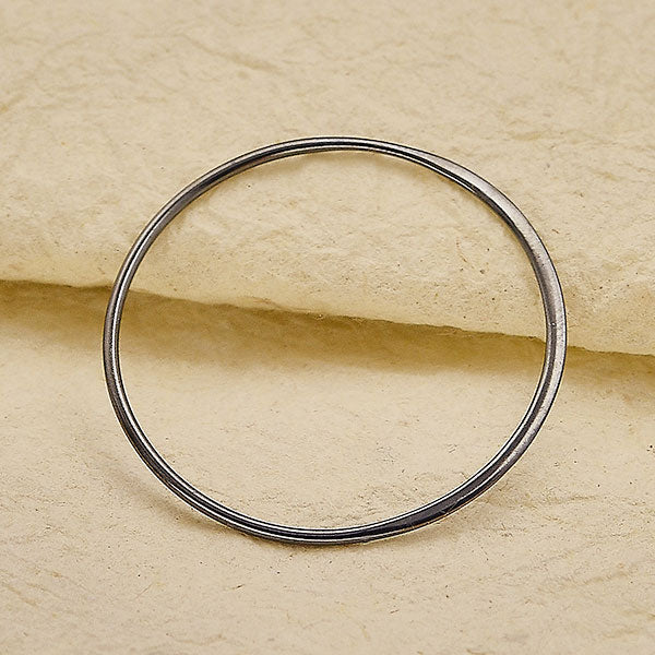 3X Large Half Hammered Circle Jewelry Link - Poppies Beads n' More